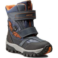 Buty zimowe chłopięce: Śniegowce GEOX – J Lt Himalaya B Abx A J64E5A 05411 C0820 Morrsky/Pomarańcz