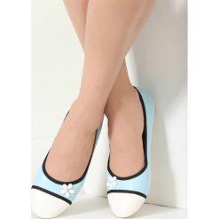 Baleriny damskie: Niebieskie Balerinki White Daisy