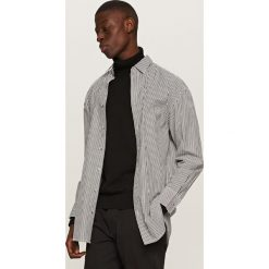 Koszule męskie: Koszula w paski – Czarny