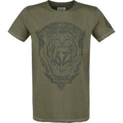 T-shirty męskie z nadrukiem: Shine Original Brock – Rock n' Roll T-Shirt oliwkowy