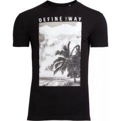 T-shirt męski TSM607 - czarny - Outhorn. Czarne t-shirty męskie Outhorn, na lato, m, z bawełny. Za 39,99 zł.