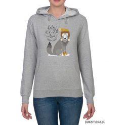 Bluzy rozpinane damskie: Bluza damska z zimowym wilkiem