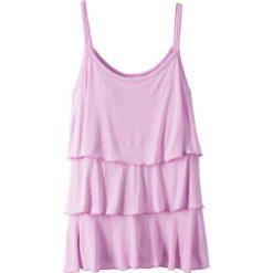 Top z falbanami bonprix lekki bez. Fioletowe bluzki dziewczęce marki bonprix. Za 27,99 zł.
