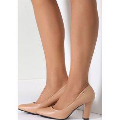 Buty ślubne damskie: Beżowe Czółenka Memory Lane