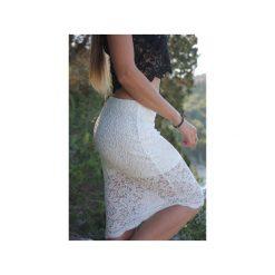 Krótka czarna koronkowa spódnica Long Legs. Czarne minispódniczki marki WOW, xs, z koronki, biznesowe. Za 180,00 zł.