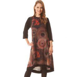 Sukienki asymetryczne: Sukienka w kolorze czerno-czerwonym
