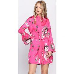 Fuksjowa Sukienka Tasty Pear. Różowe sukienki letnie Born2be, s, z koszulowym kołnierzykiem, koszulowe. Za 99,99 zł.