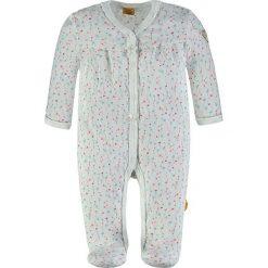 Pajacyki niemowlęce: Śpioszki w kolorze białym ze wzorem
