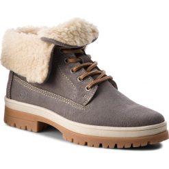 Trapery TAMARIS - 1-26254-21 Light Grey 254. Szare buty zimowe damskie marki Tamaris, z materiału, z okrągłym noskiem. Za 329,90 zł.