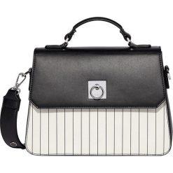Fiorelli - Torebka. Czarne torebki klasyczne damskie marki Fiorelli, w paski, z materiału, średnie. W wyprzedaży za 219,90 zł.