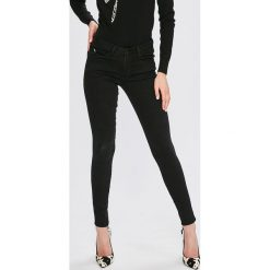 Guess Jeans - Jeansy Curve X. Niebieskie jeansy damskie marki Guess Jeans, z obniżonym stanem. Za 369,90 zł.