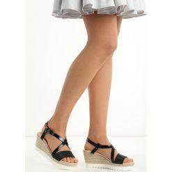 Rzymianki damskie: Czarne Sandały Chosen