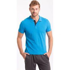 Koszulka polo męska TSM051z - niebieski jasny - 4F. Niebieskie koszulki polo 4f, na jesień, l, z bawełny. Za 69,99 zł.