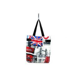 Duża torba Maniac London. Szare torebki klasyczne damskie Militu, z bawełny, duże. Za 129,00 zł.