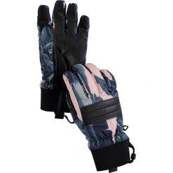 """Rękawiczki """"Dam"""" w kolorze niebiesko-jasnoróżowym. Czerwone rękawiczki damskie marki Burton. W wyprzedaży za 84,95 zł."""