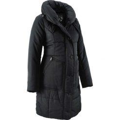 Krótki płaszcz pikowany ciążowy bonprix czarny. Czarne kurtki ciążowe bonprix. Za 249,99 zł.