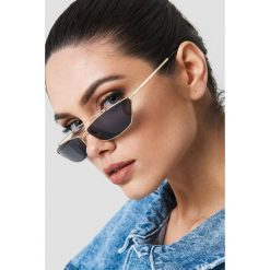 Okulary przeciwsłoneczne damskie: NA-KD Urban Trapezowe okulary przeciwsłoneczne – Black