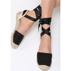 Espadryle damskie: Czarne Espadryle Find Your Love