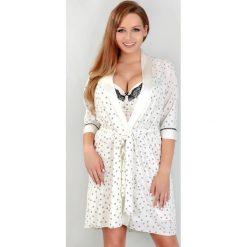 382b2d3ed5cd49 Luksusowy damski szlafrok Marianne. Szare piżamy damskie Lupoline, bez  wzorów, z dzianiny,