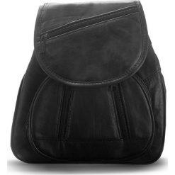 Plecak damski Abruzzo - skóra naturalna czarny. Czarne plecaki damskie marki Abruzzo, ze skóry. Za 129,00 zł.