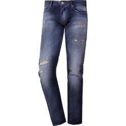 Emporio Armani Jeansy Slim Fit denim blu. Szare jeansy męskie relaxed fit marki Emporio Armani, l, z bawełny, z kapturem. Za 799,00 zł.
