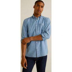 Mango Man - Koszula Teo. Szare koszule męskie jeansowe Mango Man, l, button down, z długim rękawem. Za 199,90 zł.