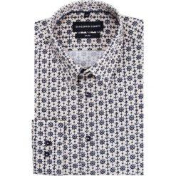 Koszula SIMONE KDWS000195. Szare koszule męskie na spinki Giacomo Conti, m, z klasycznym kołnierzykiem. Za 199,00 zł.