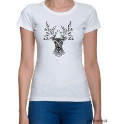 Bluzki asymetryczne: koszulka damska z jeleniem