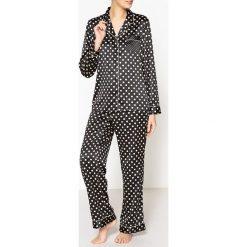 Piżamy męskie: Satynowa piżama w groszki