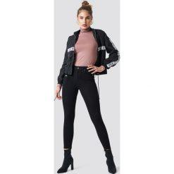 Spodnie damskie: Trendyol Jeansy skinny z wysokim stanem - Black