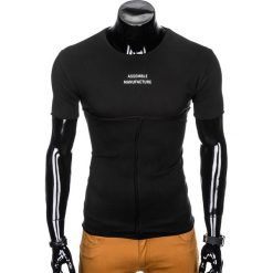 T-SHIRT MĘSKI Z NADRUKIEM S958 - CZARNY. Czarne t-shirty męskie z nadrukiem Ombre Clothing, m. Za 29,00 zł.