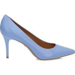 Czółenka: Niebieskie czółenka damskie