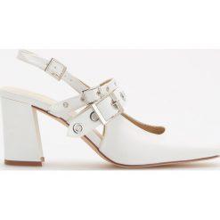 Czółenka z odkrytą piętą - Biały. Białe buty ślubne damskie Reserved. Za 159,99 zł.