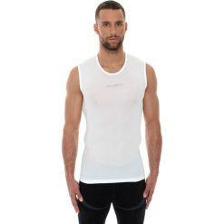 Koszulki sportowe męskie: Brubeck Koszulka męska base layer bez rękawów biała r. S (SL10100)