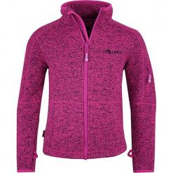 """Kurtka polarowa """"Jondalen"""" w kolorze różowym. Czerwone kurtki dziewczęce przeciwdeszczowe marki Trollkids, z polaru. W wyprzedaży za 89,95 zł."""