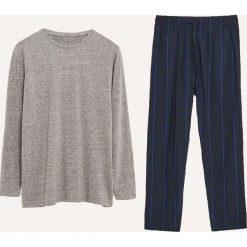 Dwuczęściowa piżama ze spodniami - Szary. Szare piżamy męskie Reserved, l. Za 99,99 zł.