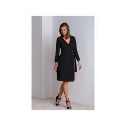 Czarna elegancka sukienka kopertowa CALA. Brązowe sukienki marki Mohito, l, z kopertowym dekoltem, kopertowe. Za 310,00 zł.