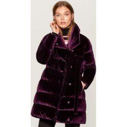 Pikowana kurtka z kołnierzem - Fioletowy. Fioletowe kurtki damskie pikowane marki DOMYOS, l, z bawełny. Za 249,99 zł.
