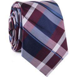 Krawat KWWR001785. Szare krawaty męskie Giacomo Conti, w kratkę, z mikrofibry. Za 69,00 zł.