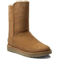 Buty UGG - A Abree Short II 1016589 W/Toas. Szare buty zimowe damskie marki Ugg, z materiału, z okrągłym noskiem. W wyprzedaży za 599,00 zł.