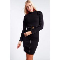 Sukienki: Sukienka z półgolfem czarna 1561