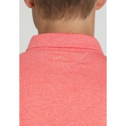 Adidas Golf TRICOLOR PIQUE  Koszulka polo coral. Pomarańczowe koszulki polo adidas Golf, m, z elastanu. Za 359,00 zł.