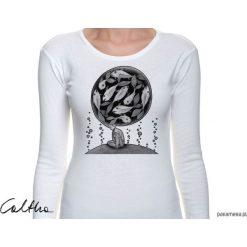 Bluzki, topy, tuniki: Ryby - damska koszulka z długim rękawem