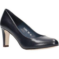 Czółenka FRIDA. Niebieskie buty ślubne damskie Gino Rossi, ze skóry, na słupku. Za 224,95 zł.