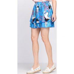 Niebieska Spódnica Spike Lavender. Niebieskie minispódniczki marki Born2be, na lato, l. Za 79,99 zł.
