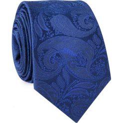 Krawat jedwabny KWGR000310. Niebieskie krawaty męskie Giacomo Conti, z jedwabiu. Za 129,00 zł.