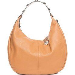 Torebki klasyczne damskie: Skórzana torebka w kolorze jasnobrązowym – 38 x 27 x 10 cm