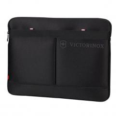 Kieszeń w kolorze czarnym na laptopa - (S)39 x (W)32 x (G)2 cm. Czarne torby na laptopa marki Victorinox, z materiału. W wyprzedaży za 209,95 zł.