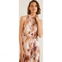Mango - Sukienka Vintage1. Różowe sukienki rozkloszowane Mango, na co dzień, l, z tkaniny, casualowe, z dekoltem halter, midi. Za 199,90 zł.
