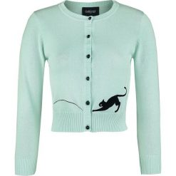 Kardigany damskie: Collectif Clothing Jessie Kitty Cat Cardigan Kardigan damski zielony (Mint)